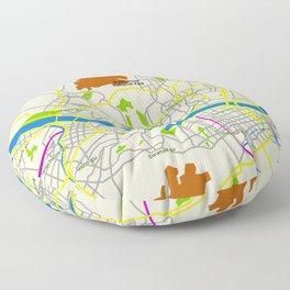 Seoul map Design Floor Pillow