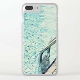 Summertime swimming Clear iPhone Case