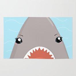 Cute Kawaii Shark Rug