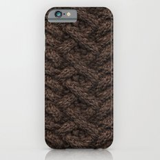 Brown Haka Cable Knit Slim Case iPhone 6s