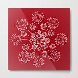 Floral snow Metal Print