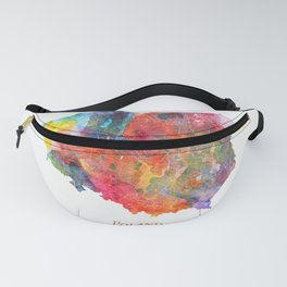 Poland Map Watercolor by Zouzounio Art Fanny Pack