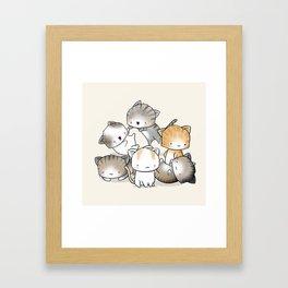 Cute Kitty Doodle Framed Art Print
