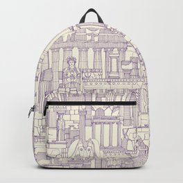 Ancient Greece purple pearl Backpack