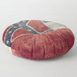 Mississippi State Flag, Vintage Retro Style Floor Pillow