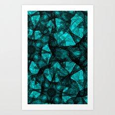 Fractal Art Turquoise G52 Art Print