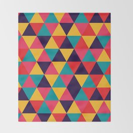 Colorful Triangles (Bright Colors) Throw Blanket