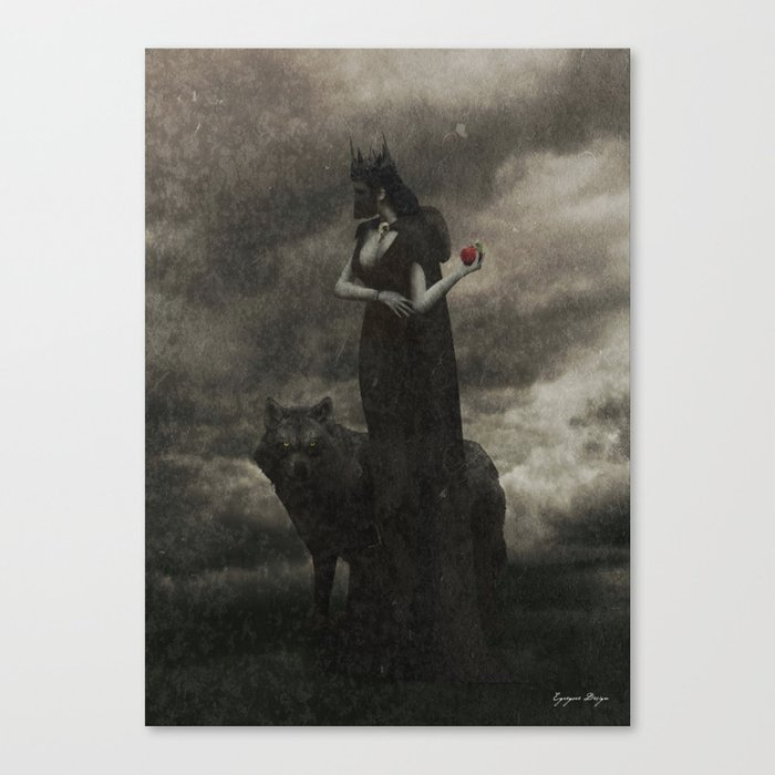 By the Pricking of Her Thumbs Canvas Print