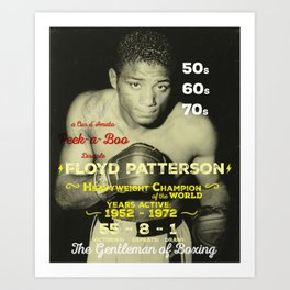Boxing and Boxer: Floyd Patterson Art Print