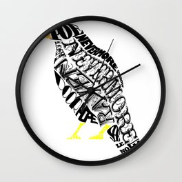 The Raven - Edgar Allan Poe Wall Clock