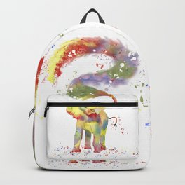 Colorful Happy Elephant Backpack