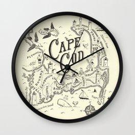 Cape Cod Map Wall Clock