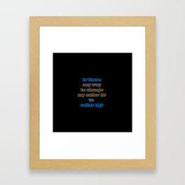 """Funny """"Caller ID"""" Joke Framed Art Print"""