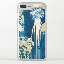 Katsushika Hokusai Waterfall Clear iPhone Case
