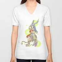 saga V-neck T-shirts featuring Digital Devil Saga by Ashley Reichgelt