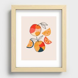 Juicy Citrus Recessed Framed Print