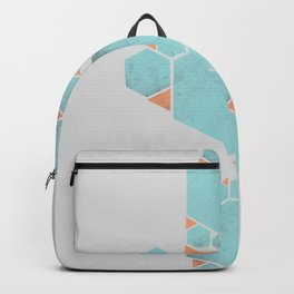 Geometric Hexagons and Triangles Backpack