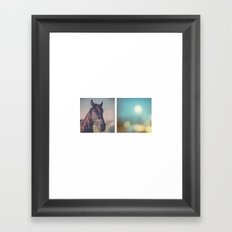 the horse diaries Framed Art Print