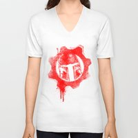 gears of war V-neck T-shirts featuring Gears of Fett by leea1968