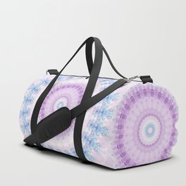 Pastel Purple and Blue Mandala Duffle Bag
