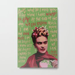 Frida Kahlo. Metal Print