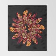 Autumn Wreath Throw Blanket