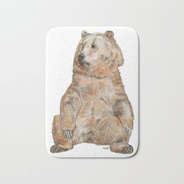 Sitting Bear Bath Mat
