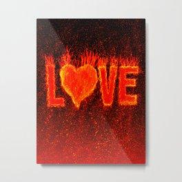 Hot Love Metal Print