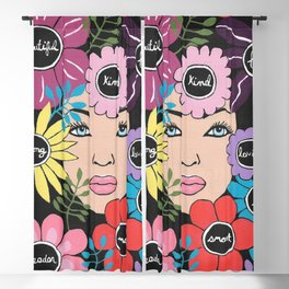 Women Empower Floral Blackout Curtain