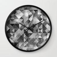 matrix Wall Clocks featuring moon matrix by Kingu Omega