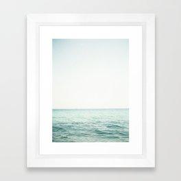 Blue French Sea Framed Art Print