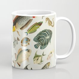 vintage fish swim on bone Coffee Mug