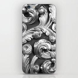 Decorative metalic foliage ornaments iPhone Skin