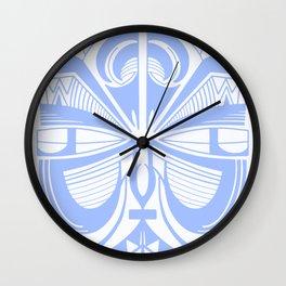 Maori Tiki - Pastel Blue Wall Clock