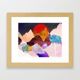 Yak Mountain Framed Art Print