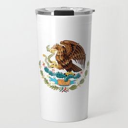 The Mexican national flag - Authentic high quality file Travel Mug