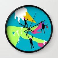 legs Wall Clocks featuring Legs by Sarah Ramirez
