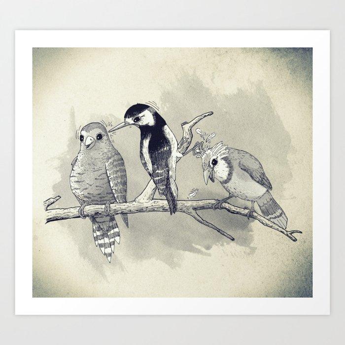 The Tree Stooges Art Print