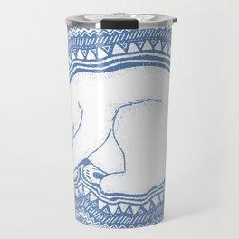 Polar bear, floe, pattern Travel Mug
