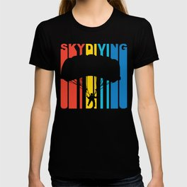 Retro 1970's Style Skydiving T-shirt