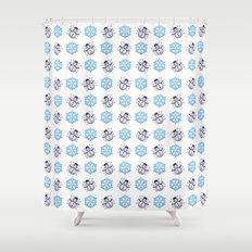 C1.3D Snowmoji Shower Curtain