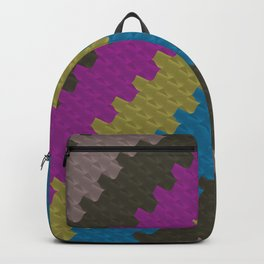 Colorful Zigzag Pattern Backpack