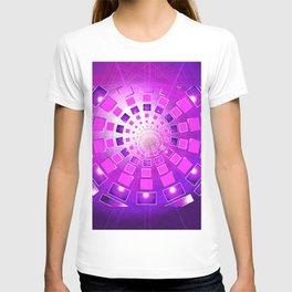 Vortex Spiral Spin Burst of Boxes Geometric T-shirt