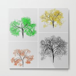 Spring, Summer, Fall, and Winter Trees Metal Print