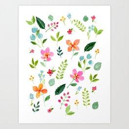 All Things Bright - White Art Print