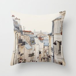 Montmartre Mon Amour - Paris Photography Throw Pillow
