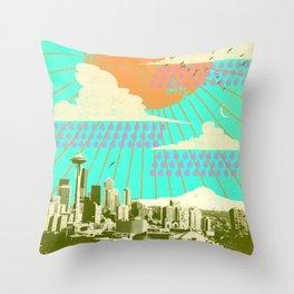 SEATTLE SUMMER Throw Pillow