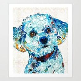 Small Dog Art - Who Me - Sharon Cummings Art Print