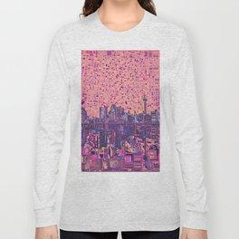 san antonio city skyline abstract 5 Long Sleeve T-shirt