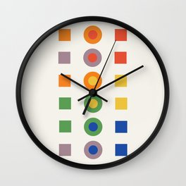 Chevreul Laws of Contrast of Colour, Plate VI, 1860, Remake Wall Clock